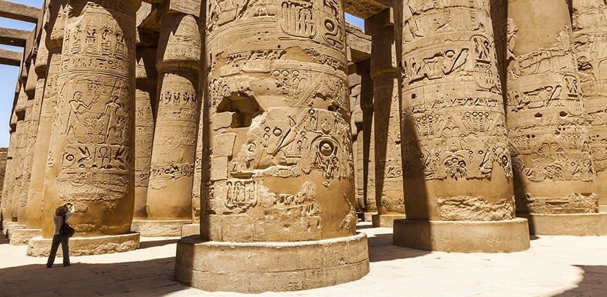 the Temple of Karnak, in Luxor, Egypt, which will soon be accessible through a series of wheelchair-friendly walkways