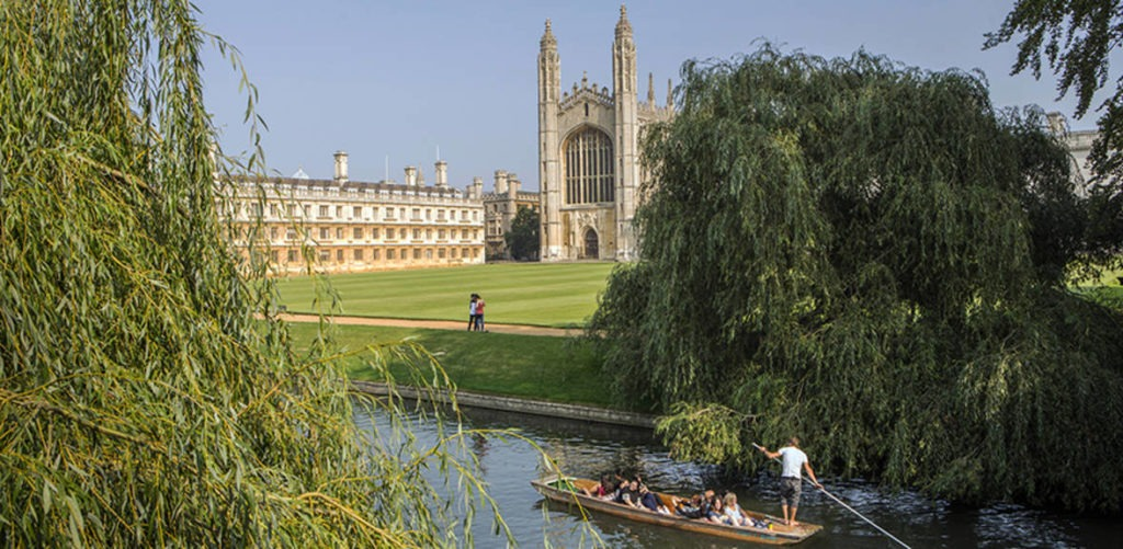King's College and the River Cam.