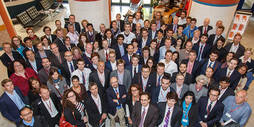 Participants of the 2015 Financial Risk and Network Theory conference.